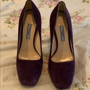 Prada purple suede heels! Worn once. Size 37